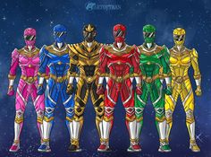 Power Rangers Zeo, Power Rangers Fan Art, Power Rangers Mystic Force, Power Rangers In Space, Mighty Morphin Power Rangers, Dino Rangers, Ranger Armor, Power Ranger Birthday, Nerd Art