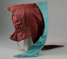 Evening bonnet, Met Museum  Date:     ca. 1870 Culture:     American Medium:     Silk