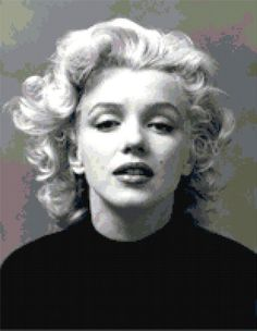 Marilyn Monroe  Black Sweater  counted cross stitch by wickedlady, $6.00