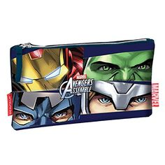 Avengers Assemble Pencil Case Tube Iron Man Hulk Captain America School