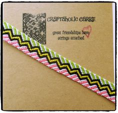 Woven Friendship Bracelet #24282 by CraftaholicCarrie on Etsy