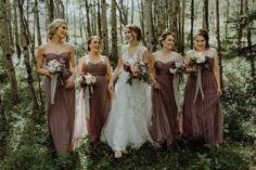 Megan   JP: Mountain Backdrop Wedding. Bridal Party, Wedding Party, Bridesmaids