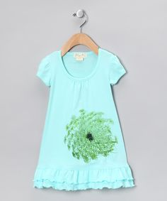 Seedling Kids Blue Flower Organic Dress - Infant, Toddler & Girls  #zulily #fall