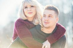 Allie and Brad took sweet and personal engagement portraits by a chilly winter lake | L Estelle Photography | See more! http://heyweddinglady.com/enchanted-winter-woods-engagement-from-lestelle-photography/