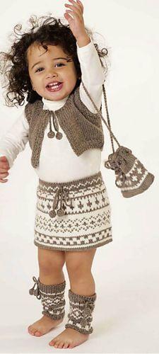 Ravelry: 52 Vest, Skirt, Leg Warmers & Bag pattern by Lana Grossa