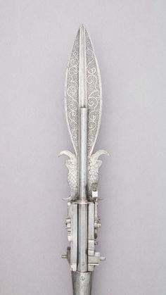 Boar spear with double barrel wheellock pistol Germany late XVI c.[2250x4000]