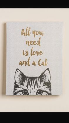 Alles was Sie brauchen ist Liebe und eine Katze Leinwand Wand Dekor All you need is love and a cat canvas wall decor The post All you need is love and a cat canvas wall decor appeared first on Best Pins. Crazy Cat Lady, Crazy Cats, I Love Cats, Cute Cats, Ideias Diy, Cat Room, Canvas Wall Decor, Canvas Walls, Here Kitty Kitty