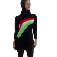 Flower islamic swimsuit muslim swimwear women bathing suit biquines e maios de praia maillot de bain plus size swimsuit two pcs