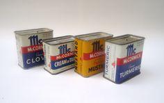 VINTAGE McCormick Spice Tins
