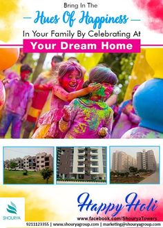 Social media promotion artworks developed for Shourya Group Marketing Campaign Examples, Happy Holi, Graphic Design Services, Creative Studio, Digital Marketing, Promotion, Artworks, Branding, Social Media