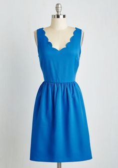 Reliably Blithe Dress. Your friends always count on your cheerful nature, and cant help but smile along with you when you sport this cerulean blue dress! #blue #modcloth