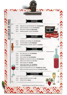 carta de vinos:
