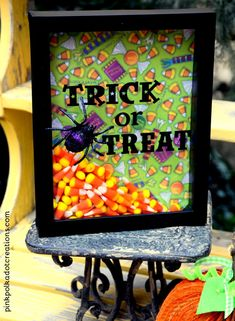 Trick or Treat Shadow Box   Pink Polka Dot Creations