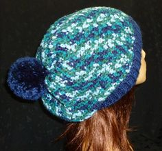 Crochet Slouch Beanie Beanie with Pom Pom Slouch Hat by berly731