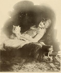 Mary Miles Minter and her cat in The Photo-Play Journal (1917), via the Media History Digital Library Five years after this picture was taken Minter's career was ruined when the scandal surrounding William Desmond Taylor's death broke, and audiences were no longer able to imagine her as the kind of innocent girl-child this kitten photo op fetishizes. However, her very involvement with Taylor—she had been a child star, he had guided her career, they had probably started a ...