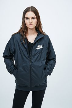 164347761f Nike Windbreaker Jacket in Black - Urban Outfitters Black Nikes