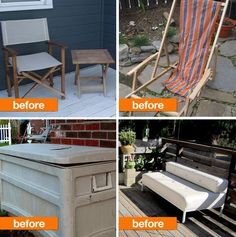 Outdoor Refresh: Furniture Before & Afters