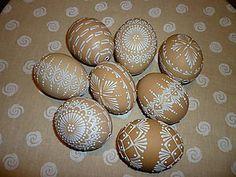 Dekorácie - * slepačie kraslice II. - predané * - 4937669_ Egg Shell Art, Easter Egg Pattern, Egg Art, Egg Shells, Easter Eggs, Wax, Handmade, Painting, Seasons