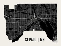 St Paul Art Print by Mr City Printing at Art.com