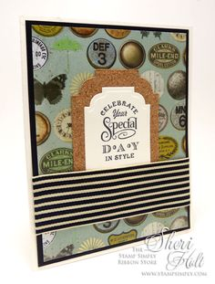 The Stamp Simply Ribbon Store - Another Simple Birthday Card - designed by Sheri Holt
