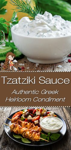 This recipe for Greek Tzatziki Sauce was generously gifted to me by a friend's Greek grandma. She told me that most Tzatziki recipes aren't traditional, as they have lemon and/or dill in them. Hers is the genuine recipe, the way it's served all over Greece. If you love garlic... you're going to adore this! Tzatziki | Tzatziki Sauce | Tzatziki Dip | Greek Tzatziki | Homemade Greek Tzatziki | Greek Food | Greek Recipes | Appetizers | Party Food | Dip Recipes | #foodiehomechef @foodiehomechef Sauce Recipes, Seafood Recipes, Dinner Recipes, Cooking Recipes, Dip Recipes, Tzatziki Sauce, Tzatziki Recipes, Acid Reflux Recipes, Easy Summer Meals