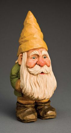 Easy beginner character can be carved as Santa's helper or a garden gnome By Ross Oar This happy fellow started out as a project in a beginner's carving class. The compact figure is easy to carve, but provides essential practice in carving faces and texturing hair. Intermediate and advanced carvers …