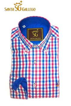 Camisa hombre cuadros tonos azul tinta 14be3f4cc77