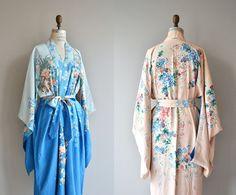 Silk Kimono Robe, Kimono Top, Vintage Outfits, Vintage Fashion, Vintage Style, Lace Silk, Fashion Night, Vintage Lingerie, Playing Dress Up