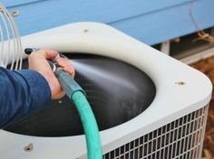 While these steps will help to keep your AC system in top shape, be aware that there are maintenance items that only a trained HVAC technician will be able to do. The bottom line? While some AC maintenance can be done by a savvy homeowner, it's still ne Cleaning Solutions, Cleaning Hacks, Cleaning Products, Deep Cleaning, Home Renovation, Hvac Maintenance, Home Fix, Diy Home Repair, Up House