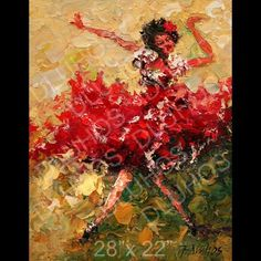 Modern Flamenco Seville Dance Original Palette Knife Oil Paintings Andre Dluhos | eBay
