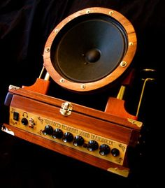 Steampunk Guitar Amplifier by steampunk22