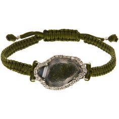 Kimberly McDonald Geode Macram Bracelet (€1.590) ❤ liked on Polyvore featuring jewelry, bracelets, accessories, fine jewellery, kimberly mcdonald jewelry, braided bracelet, knot bangle, 18 karat gold jewelry and polish jewelry