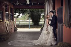 Miami wedding photographer | Glamour meets Southern comfort. A Horse Ranch can take your #wedding to the next level, don't you agree? This one is literately around the corner. Right here in South Florida… enjoy | J del Olmo wedding dress | Southern ranch wedding wrapped in elegance