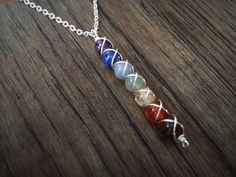 CHAKRA  Seven Chakra natural gemstone silver or by psychonautix