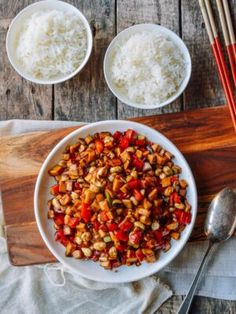 In my recent mission to make more Chinese vegan dishes, I've created Kung Pao Mushrooms, a vegan version of the classic Kung Pao Chicken. Kung Pao Mushrooms is King Mushroom, Mushroom Dish, Mushroom Recipes, Pesto, Wok Of Life, Easy Chinese Recipes, Stuffed Mushrooms, Stuffed Peppers, Meat Substitutes