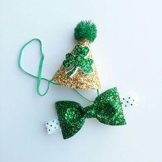 St. Patrick's Day Glittery Birthday Boy Party by Kutiebowtuties