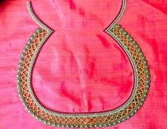 unique designers: Patch work blouse with tracing paper Magam Work Designs, Hand Work Design, Hand Work Blouse Design, Simple Blouse Designs, Embroidery On Clothes, Embroidery Works, Aari Embroidery, Embroidery Stitches, Hand Embroidery Patterns Flowers