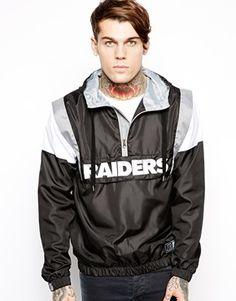 Majestic Oakland Raiders Overhead Jacket