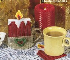 Free Plastic Canvas Coaster Patterns | Christmas Coasters Plastic Canvas Pattern Book New | eBay