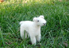 Needle Felted Sheep Toy Waldorf Inspired Soft by TheWanderingEwe, $15.00