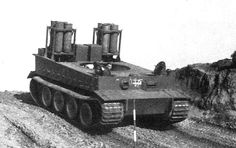 A Tiger 1 chassis modified with the Holzgas wood burning system. These tanks were only used in training duties and never saw battlefield conditions