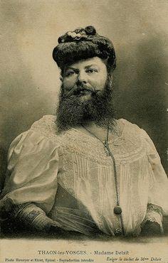 mme delait - a mulher barbada paris, 1910