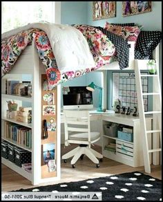 amazing-loft-beds-with-desk-for-home-design-best-queen-ideas-on-lofted-king-size-bunk-bed-and-adult-plans-free.jpg (589×730)