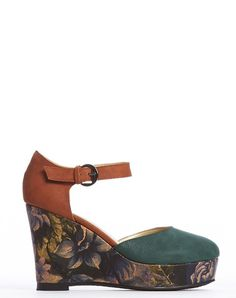 MUST HAVE VEGAN WEDGES #CRIDECOUER Arden Wohl x CDC Tate Wedge - Forest - was $280