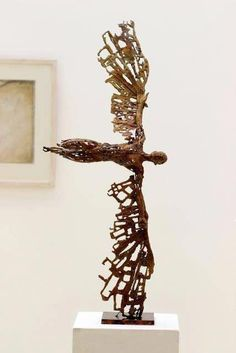 Ceramic Art – Page 2 – Kartsios Vasilis Sculpture Metal, Pottery Sculpture, Metal Art, Wood Art, Metal Wings, Ceramic Art, Art Dolls, Sculpting, Creations
