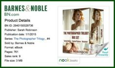 Watch a Book Trailer for the $0.99 Bestselling Photographer Trilogy! - http://youtu.be/fSlFvUTE2Gw