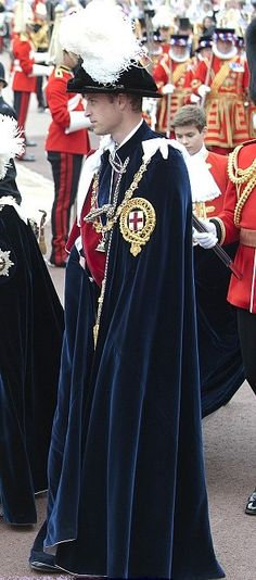 Prince William was made a Knight of the Garter in 2008
