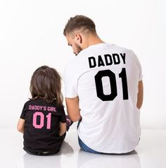 Daddy Daughter Shirts, Daddy, Daddy's Girl, Matching Daddy and Me Shirts. This set of daddy and me shirts are the perfect outfit! Get yours now!
