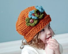 Crochet Hat Pattern Sweet and Sassy Hat All sizes por RAKJpatterns, $3.99