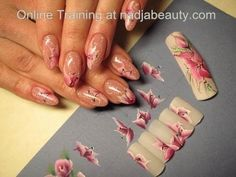 Tutorial Nail Art: Pictura One Stroke Unghii false / unghii gel